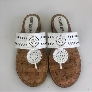 Sam & Libby sandals, flats white size 8